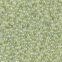 Japanese Miyuki Seed Beads, size 11/0, SKU 111030.MY11-0371, extra pale green, (1 28-30 gram tube, apprx 3080 beads)