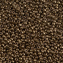 Japanese Miyuki Seed Beads, size 11/0, SKU 111030.MY11-0457, dark bronze, (1 28-30 gram tube, apprx 3080 beads)