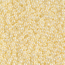 Japanese Miyuki Seed Beads, size 11/0, SKU 111030.MY11-0527, beige opal ceylon, (1 28-30 gram tube, apprx 3080 beads)