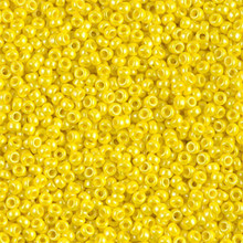 Japanese Miyuki Seed Beads, size 11/0, SKU 111030.MY11-0422, opaque yellow luster, (1 28-30 gram tube, apprx 3080 beads)