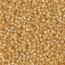 Japanese Miyuki Seed Beads, size 11/0, SKU 111030.MY11-0578, light amber alabaster silver lined dyed, (1 28-30 gram tube, apprx 3080 beads)