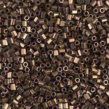 Japanese Miyuki Seed Beads, size 11/0, SKU 111030.MY11-457cut (was 0614cut), 2-cut bronze, (1 28-30 gram tube, apprx 3080 beads)