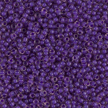 Japanese Miyuki Seed Beads, size 11/0, SKU 111030.MY11-1932, semi-matte violet lined light amethyst, (1 28-30 gram tube, apprx 3080 beads)