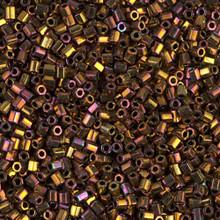 Japanese Miyuki Seed Beads, size 11/0, SKU 111030.MY11-462cut (was 0615cut), 2-cut bronze iris, (1 28-30 gram tube, apprx 3080 beads)