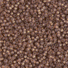 Japanese Miyuki Seed Beads, size 11/0, SKU 111030.MY11-0641, bronze  alabaster silver lined dyed, (1 28-30 gram tube, apprx 3080 beads)