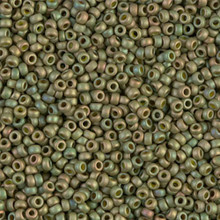 Japanese Miyuki Seed Beads, size 11/0, SKU 111030.MY11-2033, matte opaque olive green, (1 28-30 gram tube, apprx 3080 beads)