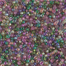 Japanese Miyuki Seed Beads, size 11/0, SKU 111030.MY11-MIX10, heather mix, (1 28-30 gram tube, apprx 3080 beads)