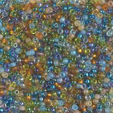 Japanese Miyuki Seed Beads, size 11/0, SKU 111030.MY11-MIX25, fields of france mix, (1 28-30 gram tube, apprx 3080 beads)