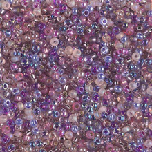 Japanese Miyuki Seed Beads, size 11/0, SKU 111030.MY11-MIX01, purple pansies mix, (1 28-30 gram tube, apprx 3080 beads)