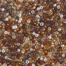 Japanese Miyuki Seed Beads, size 11/0, SKU 111030.MY11-MIX21, golden grains mix, (1 28-30 gram tube, apprx 3080 beads)