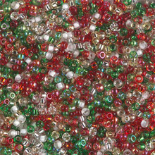 Japanese Miyuki Seed Beads, size 11/0, SKU 111030.MY11-MIX17, rockin' Christmas mix, (1 28-30 gram tube, apprx 3080 beads)