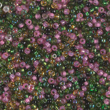Japanese Miyuki Seed Beads, size 11/0, SKU 111030.MY11-MIX23, tourmaline mix, (1 28-30 gram tube, apprx 3080 beads)