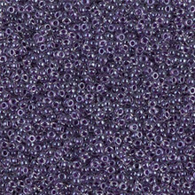 Japanese Miyuki Seed Beads, size 15/0, SKU 189015.MY15-0223, grape lined crystal, (1 12-13gram tube - apprx 3500 beads)