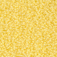 Japanese Miyuki Seed Beads, size 15/0, SKU 189015.MY15-0201, yellow lined crystal, (1 12-13gram tube - apprx 3500 beads)