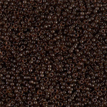 Japanese Miyuki Seed Beads, size 15/0, SKU 189015.MY15-0135, transparent taupe, (1 12-13gram tube - apprx 3500 beads)