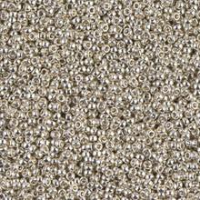 Japanese Miyuki Seed Beads, size 15/0, SKU 189015.MY15-1051 (was 0181), galvanized silver, (1 12-15gram tube - apprx 3500 beads)