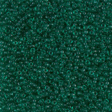 Japanese Miyuki Seed Beads, size 15/0, SKU 189015.MY15-0147, transparent emerald, (1 12-15gram tube - apprx 3500 beads)