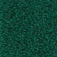 Japanese Miyuki Seed Beads, size 15/0, SKU 189015.MY15-0147, transparent emerald, (1 12-13gram tube - apprx 3500 beads)