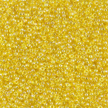 Japanese Miyuki Seed Beads, size 15/0, SKU 189015.MY15-0252, transparent yellow ab, (1 12-15gram tube - apprx 3500 beads)