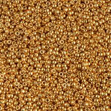 Japanese Miyuki Seed Beads, size 15/0, SKU 189015.MY15-4203, duracoat galvanized yellow gold, (1 12-15gram tube - apprx 3500 beads)