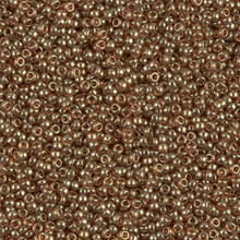 Japanese Miyuki Seed Beads, size 15/0, SKU 189015.MY15-0311, topaz gold luster, (1 12-15gram tube - apprx 3500 beads)