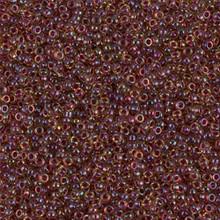 Japanese Miyuki Seed Beads, size 15/0, SKU 189015.MY15-0336, wine lined peridot luster, (1 12-13gram tube - apprx 3500 beads)