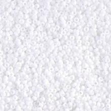 Japanese Miyuki Seed Beads, size 15/0, SKU 189015.MY15-0402F, matte white, (1 12-15gram tube - apprx 3500 beads)