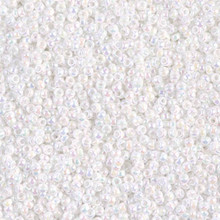 Japanese Miyuki Seed Beads, size 15/0, SKU 189015.MY15-0471, white pearl #2, (1 12-15gram tube - apprx 3500 beads)