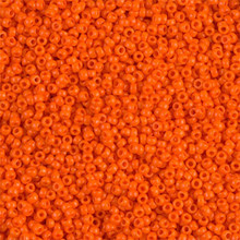 Japanese Miyuki Seed Beads, size 15/0, SKU 189015.MY15-0406, opaque orange, (1 12-15gram tube - apprx 3500 beads)