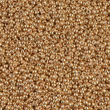 Japanese Miyuki Seed Beads, size 15/0, SKU 189015.MY15-1053, galvanized yellow gold, (1 12-15gram tube - apprx 3500 beads)