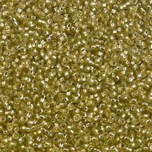 Japanese Miyuki Seed Beads, size 15/0, SKU 189015.MY15-1631, semi-matte jonquil silver lined, (1 12-15gram tube - apprx 3500 beads)