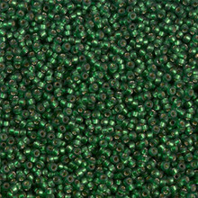 Japanese Miyuki Seed Beads, size 15/0, SKU 189015.MY15-1642, semi-matte dark green-grey silverlined, (1 12-15gram tube - apprx 3500 beads)