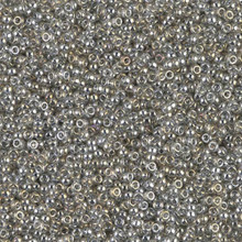 Japanese Miyuki Seed Beads, size 15/0, SKU 189015.MY15-1881, transparent silver grey luster, (1 12-13gram tube - apprx 3500 beads)