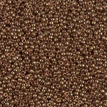 Japanese Miyuki Seed Beads, size 15/0, SKU 189015.MY15-1882, transparent luster metallic rose gold, (1 12-13gram tube - apprx 3500 beads)