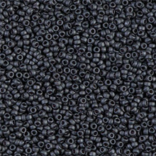 Japanese Miyuki Seed Beads, size 15/0, SKU 189015.MY15-2065, matte dark grey, (1 12-15gram tube - apprx 3500 beads)