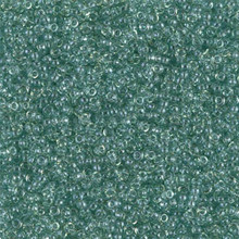 Japanese Miyuki Seed Beads, size 15/0, SKU 189015.MY15-2445, seafoam luster, (1 12-15gram tube - apprx 3500 beads)