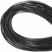 Leather, European (Greek), Round Cord, 2.5mm, Black, 5-meters, (5-meters length)