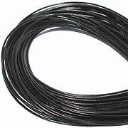 Leather, European (Greek), Round Cord, 3.0mm, Black, 5-meters, (5-meters length)