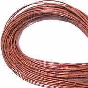 Leather, European (Greek), Round Cord, 1.5mm, Rust, 5-meters, (5-meters length)