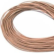 Leather, European (Greek), Round Cord, 1.5mm, Natural, 50-meter skein, (1 skein)