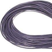 Leather, European (Greek), Round Cord, 1.5mm, Purple (amethyst) , 50-meter skein, (1 skein)