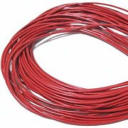 Leather, European (Greek), Round Cord, 1.5mm, Red, 50-meter skein, (1 skein)