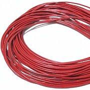 Leather, European (Greek), Round Cord, 1.5mm, Red, 50-meter skein, (1 skein)