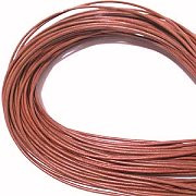Leather, European (Greek), Round Cord, 1.5mm, Rust, 50-meter skein, (1 skein)