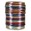 Satin Cord (Rat Tail), Rainbow Multi, 3mm, 12 yard length, (12 yards cut)
