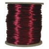 Satin Cord (Rat Tail), Wine, 3mm, 12 yard length, (12 yards cut)