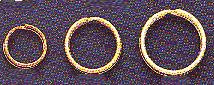 "Nickel-Plate, Split Ring, Size 4L, 7/8"", (1"" outer diamter, 7/8"" inner diameter), (36 pc)"