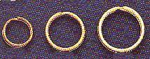 """Nickel-Plate, Split Ring, Size 5L, 1 1/8"""", (1 1/4"""" outer diameter, 1 1/8"""" inner diameter), (36 pc)"""