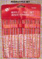 Needle File Set, 12 Mini Files of Different Shapes, (1 set)