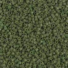 Delica Beads (Miyuki), size 11/0 (same as 12/0), SKU 195006.DB11-1135, opaque avocado, (10gram tube, apprx 1900 beads)